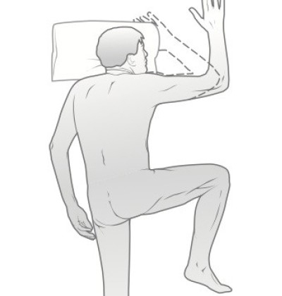 half military crawl sleep position